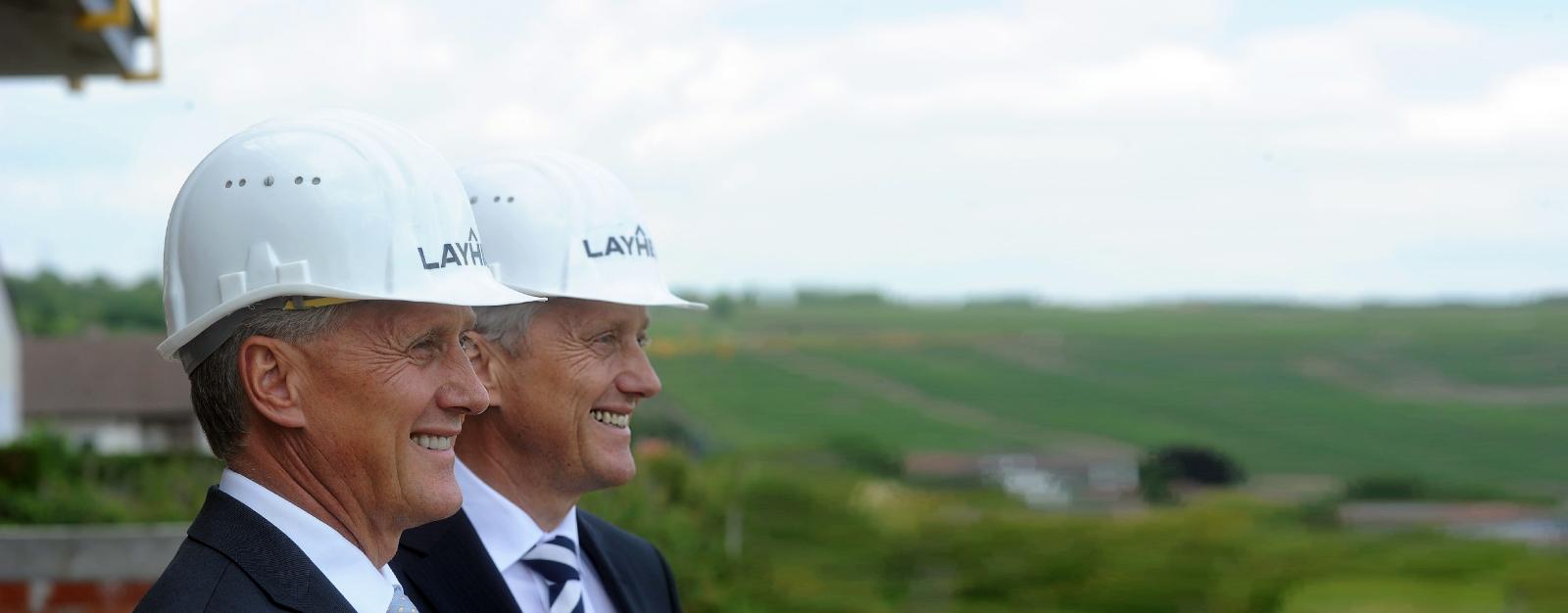 Geschäftsführer Albrecht und Stefan Layher
