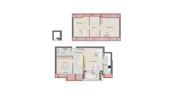 Plieningen 4 1/2 Zimmer Wohnung W6-11A
