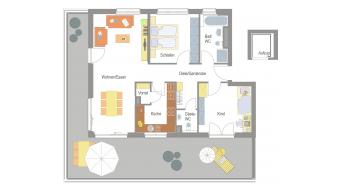Sachsenheim 3 1/2 Zi. Penthouse 11F
