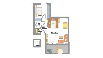 2 1/2 Zimmer in Sachsenheim
