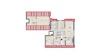 Plieningen 5 1/2 Zimmer Wohnung W6-7C