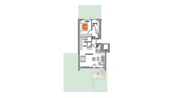 Markgröningen 2 1/2 Zimmer 2A