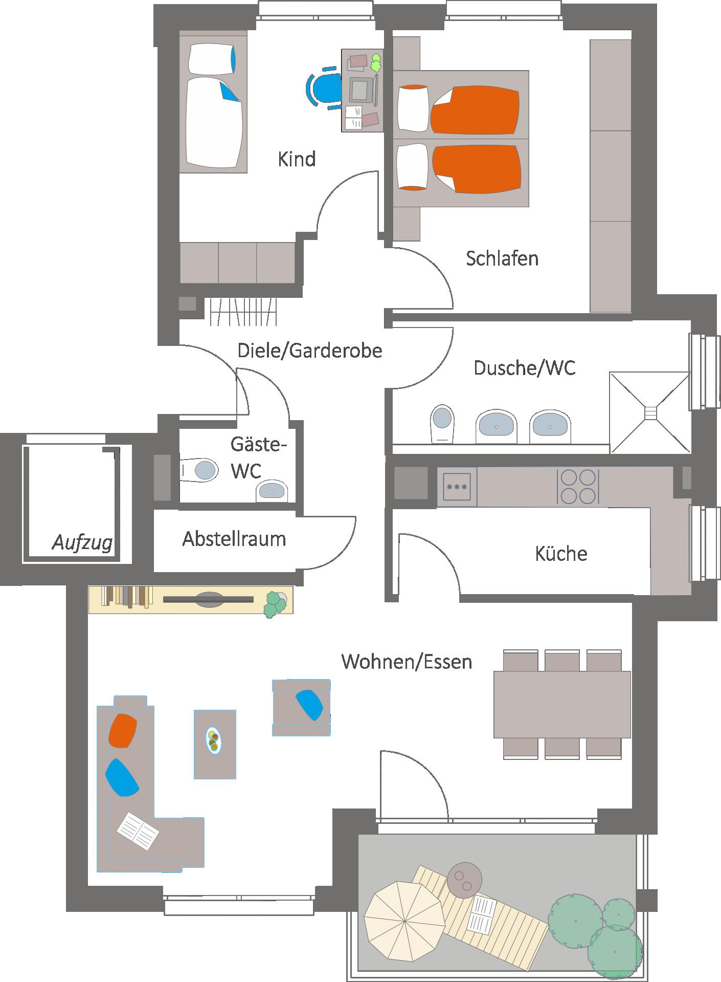 markgr ningen im langen feld roggenweg wohnbau layher gmbh co kg. Black Bedroom Furniture Sets. Home Design Ideas
