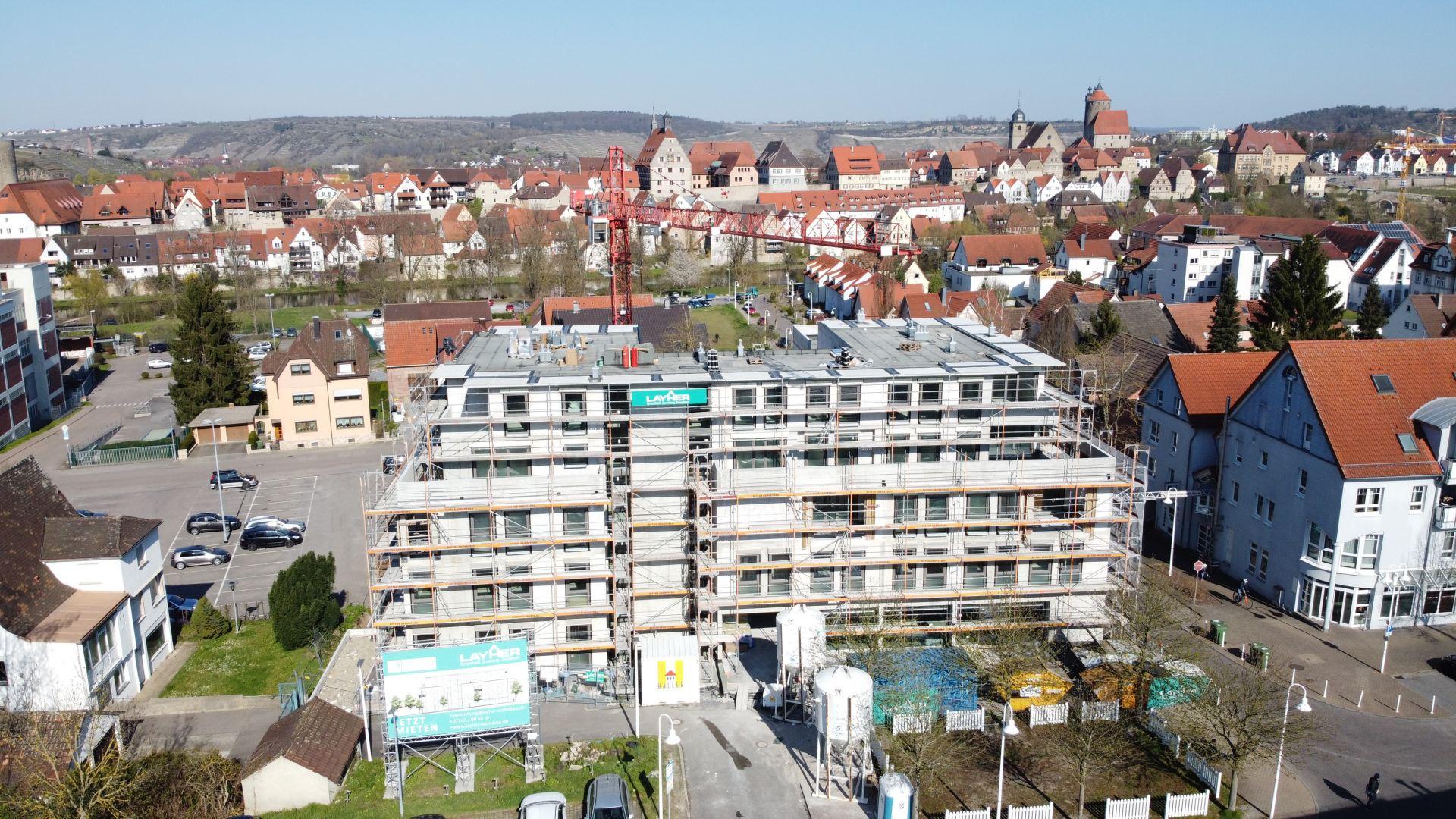 jetzt bewerben – barrierefreie Wohnungen im Neubau Gesundheitszentrum in Besigheim
