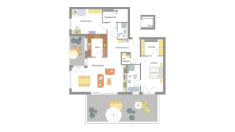 3 1/2 Zimmer Penthouse in Sachsenheim