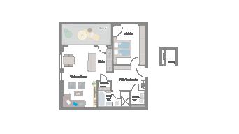 Leinfelden-Echterdingen 2 1/2 Zimmer S7-6A