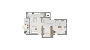 Sachsenheim 3 1/2 Zimmer Q7-03