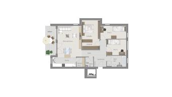 Sachsenheim 4 1/2 Zimmer Q7-04