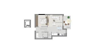Sachsenheim 2 1/2 Zimmer H8 - 1B