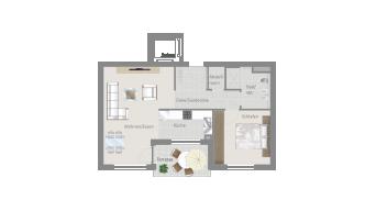 Sachsenheim 2 1/2 Zimmer H8 - 2E