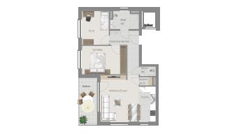Ellental , 3 1/2 Zimmer, L8-W4