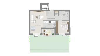Sachsenheim 2 1/2 Zimmer H8 - 2C
