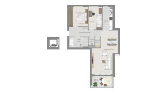 Sachsenheim 3 1/2 Zimmer H8 - 4E