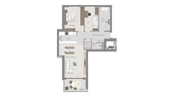 Sachsenheim 3 1/2 Zimmer H8 - 6C