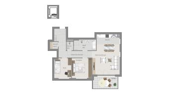 Sachsenheim 3 1/2 Zimmer H8 - 10B
