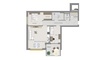 Sachsenheim 3 1/2 Zimmer P8-W9