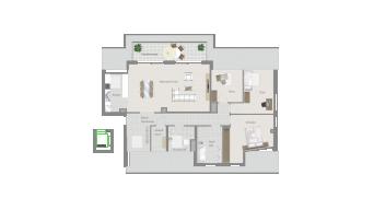 Kornwestheim 4 1/2 Zimmer Q8 - 14A