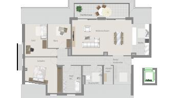 Kornwestheim 4 1/2 Zimmer Q8 - 13A