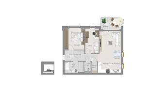 Löchgau 3 1/2 Zimmer Z8 - 6C