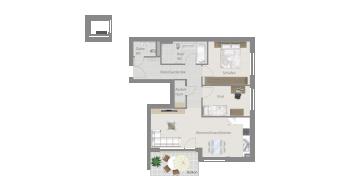 Löchgau 3 1/2 Zimmer Z8 - 7A