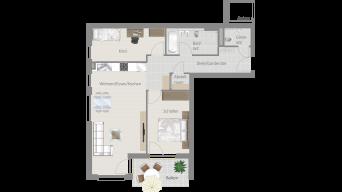 Löchgau 3 1/2 Zimmer Z8 - 9A