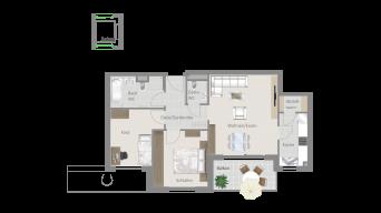 Kornwestheim 3 1/2 Zimmer Q8 - 14B
