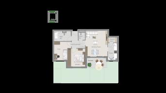 Kornwestheim 3 1/2 Zimmer Q8 - 2B