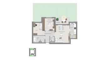 Kornwestheim 3 1/2 Zimmer Q8 - 3A