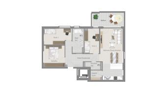 Stammheim 4 1/2 Zimmer T6-3A