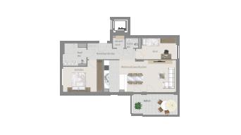 Stammheim 3 1/2 Zimmer T6-4A