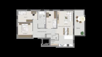 Stammheim 4 1/2 Zimmer T6-5B