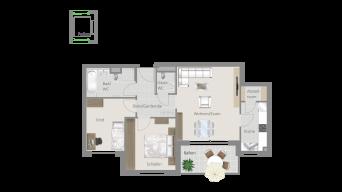 Kornwestheim 3 1/2 Zimmer Q8 - 6B