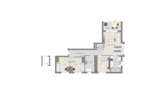 Kornwestheim 4 1/2 Zimmer Q8 - 8A