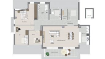 Kornwestheim 4 1/2 Zimmer Q8 - 18B