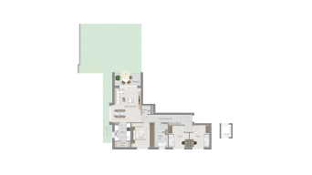 Kornwestheim 4 1/2 Zimmer Q8 - 1A
