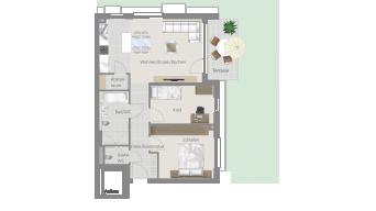 Löchgau 3 1/2 Zimmer Z8 - 5D