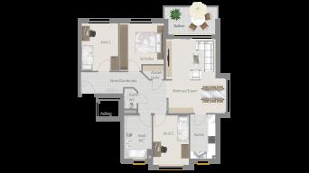 Neckarweihingen 4 1/2 Zimmer V6 - 4B