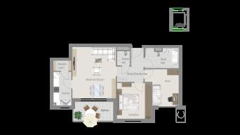 Kornwestheim 3 1/2 Zimmer Q8 - 11B