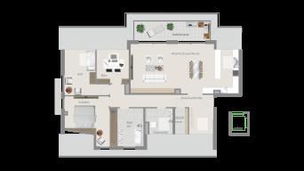 Kornwestheim 4 1/2 Zimmer Q8 – 13A