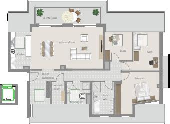 Kornwestheim, Achalmstr. 18 – Exklusive 4,5-Zimmer Penthouse