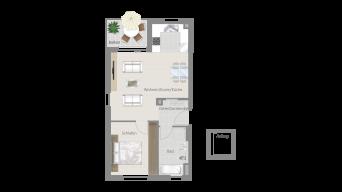 LB-Poppenweiler 2 1/2 Zimmer O8 – 3B