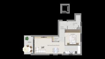 Fellbach 2 1/2 Zimmer V8 – 10B