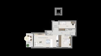 Fellbach 3 1/2 Zimmer V8 - 4B