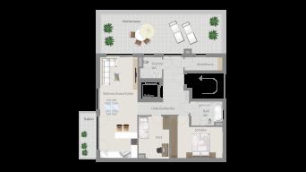 Fellbach 3 1/2 Zimmer V8 - 9C
