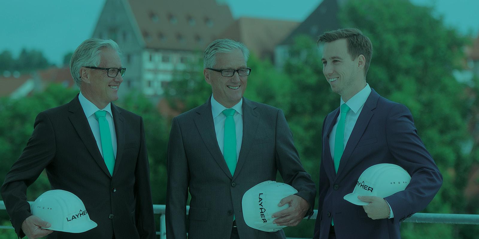 Geschäftsführer Stefan, Albrecht und Philipp Layher