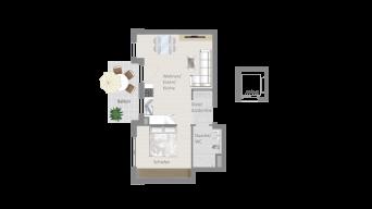 Fellbach 2 1/2 Zimmer V8 – 5B